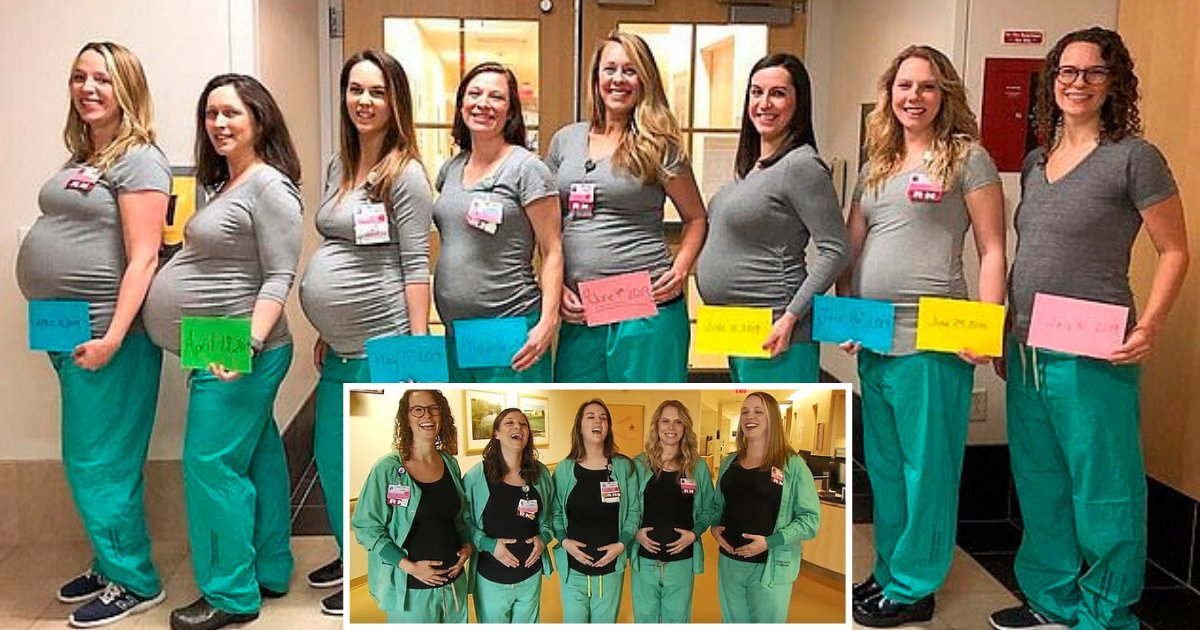 s1 19.png?resize=1200,630 - 9 Nurses Who Work in the Labor Unit at a Hospital in Maine are Expecting Just Weeks Apart