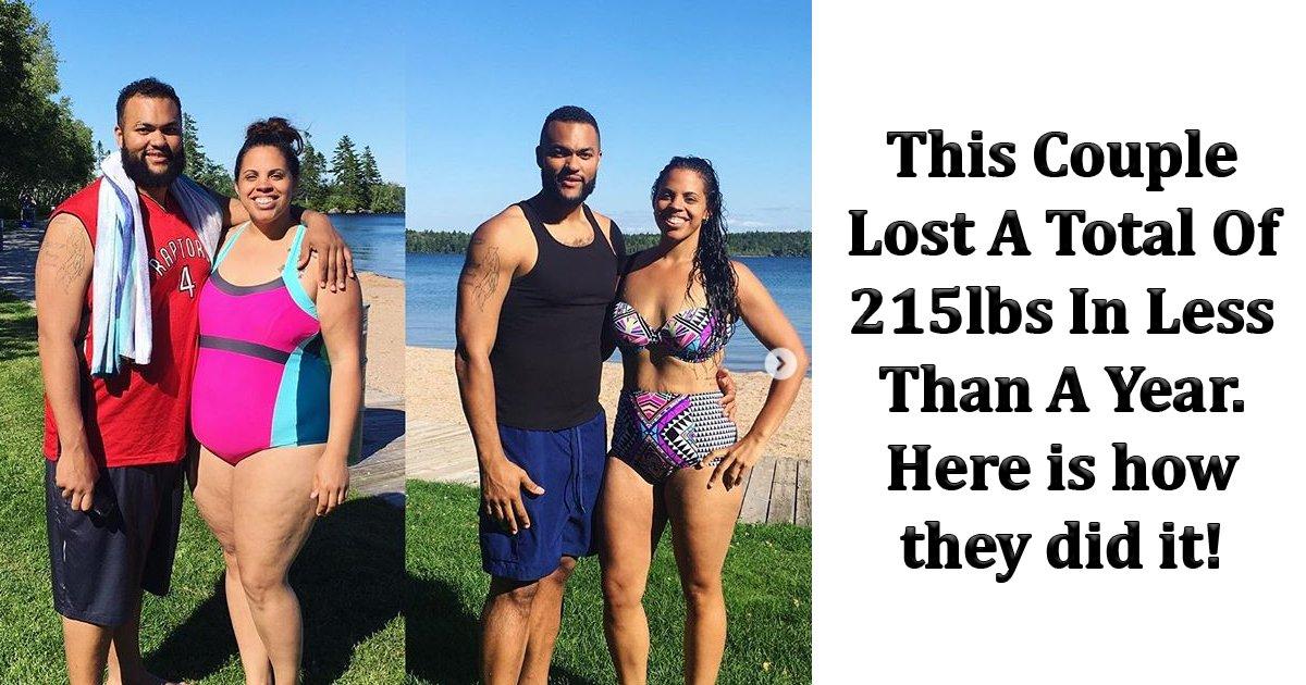 sdfsdfs.jpg?resize=300,169 - Ce couple a perdu 97 kilos en moins d'un an et les gens les félicitent pour leur incroyable transformation