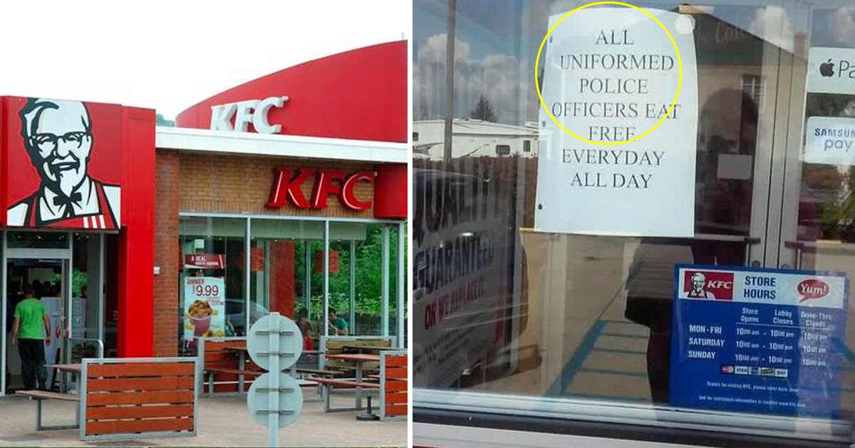 sdfsdfsdfsdfsdf.jpg?resize=1200,630 - KFC Offered Free Meal For All The Uniformed Police Officers But Some People Are Not Happy About It