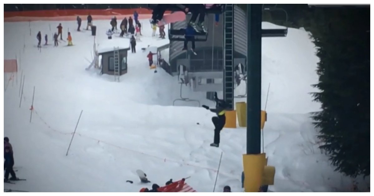 ski.jpg?resize=412,232 - Heartstopping Moment When Boy Was Left Hanging From Ski Lift In Mountains