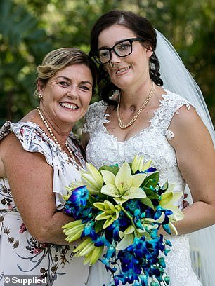 Her mother Helen is pictured here with her daughter Joanne