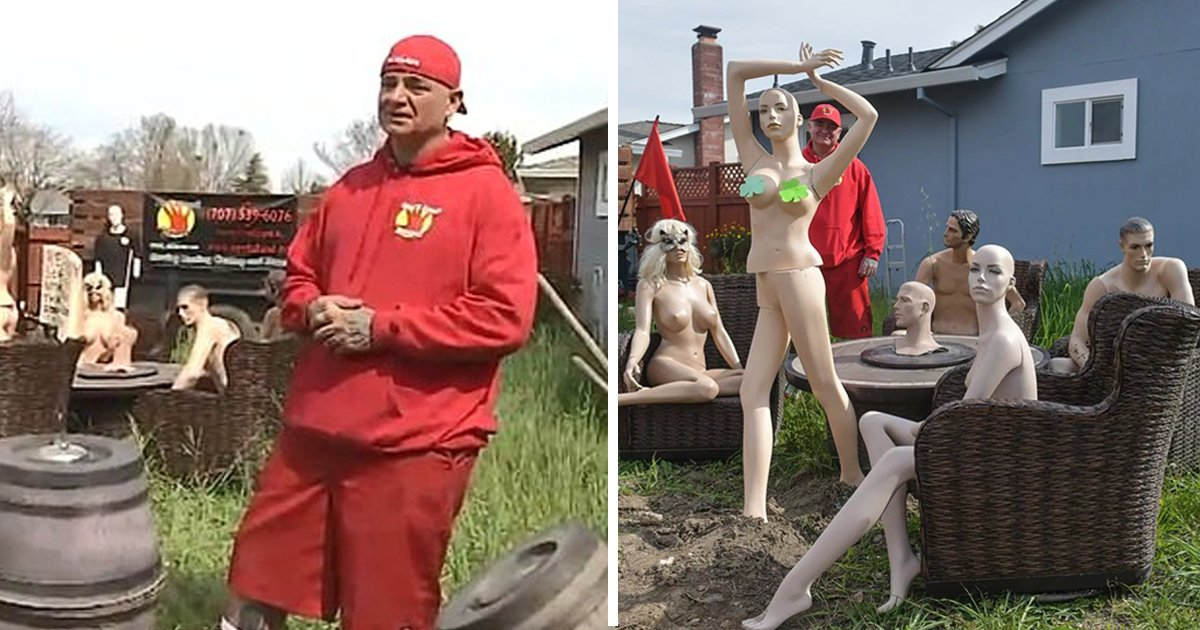 ssssssss.jpg?resize=412,232 - A Man Displays Dummies As To Take Revenge On The Neighbor Who Wanted Him To Cut Off His Extra Erected Garden Fence