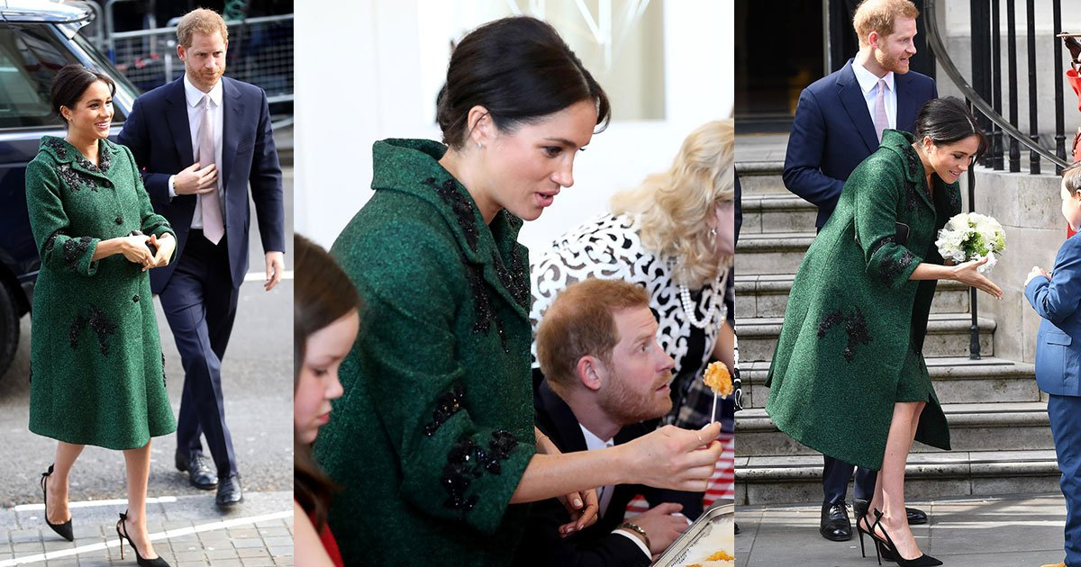 the duke and duchess of sussex took part in canadian tradition of making maple taffy as they visited canada house in london.jpg?resize=412,232 - The Duke And Duchess Of Sussex Took Part In Canadian Tradition Of Making Maple Taffy As They Visited Canada House In London