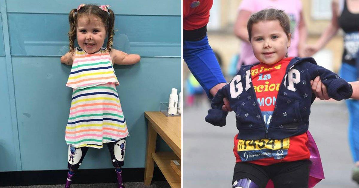 toddler without limbs marathon.jpg?resize=412,232 - Toddler Without Limbs Completes Her First Marathon