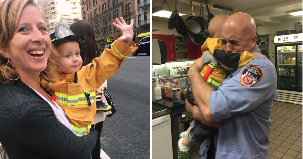 trucker1.png?resize=412,232 - Terminally Ill Boy Who Loved Firefighters Met His Heroes Before Passing Away