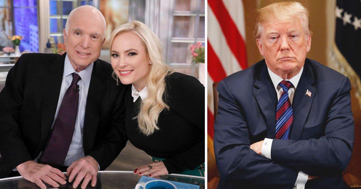 trump meghan mccain.jpg?resize=412,232 - Meghan McCain Slams President Donald Trump For Criticizing Her Late Father, John McCain