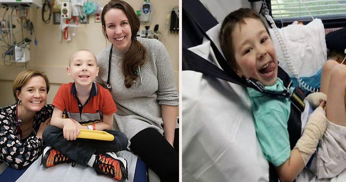 untitled 1 23.jpg?resize=412,232 - Zac Oliver Dubbed 'Britain's Bravest Boy' Is Cancer Free After £500,000 Pioneering Us Treatment