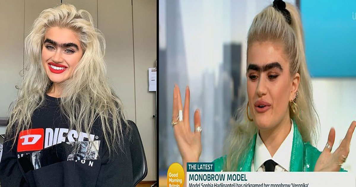 untitled 1 28.jpg?resize=1200,630 - 'Monobrow Model' Sophia Hadjipanteli Reveals She Gets Threats For Embracing Her Natural Eyebrows