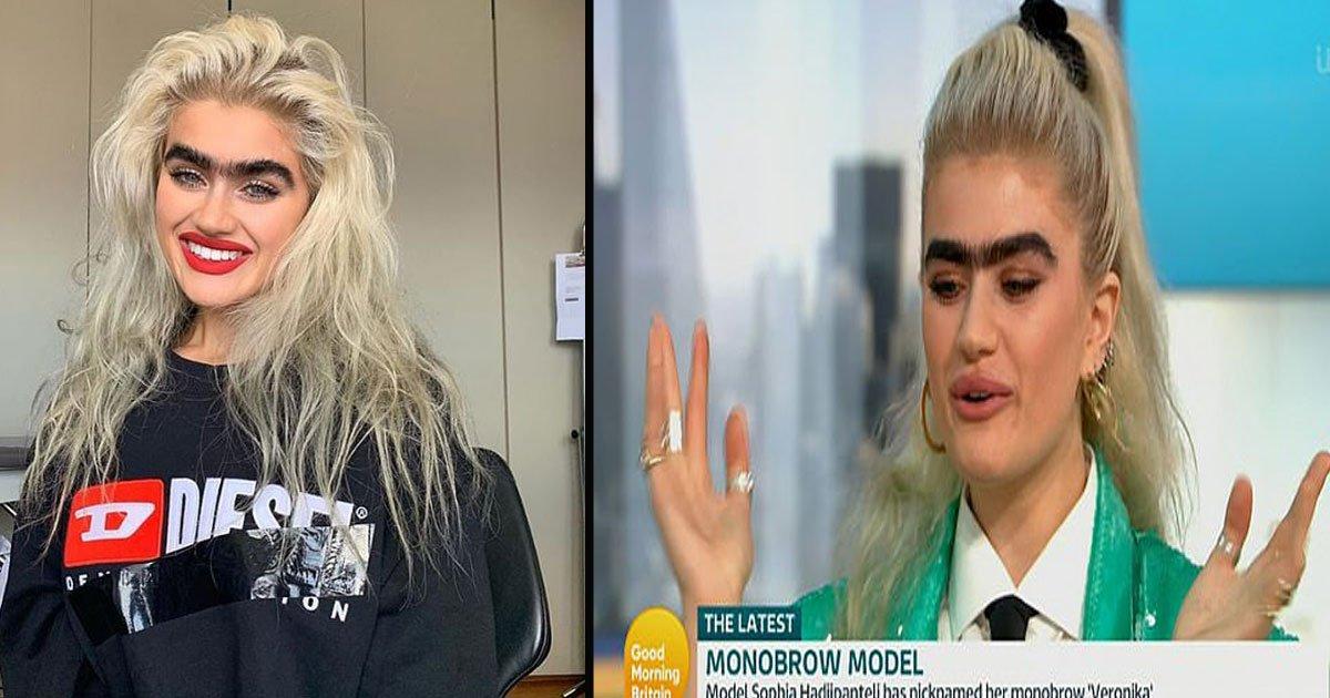 untitled 1 28.jpg?resize=412,232 - 'Monobrow Model' Sophia Hadjipanteli Revealed She Gets Threats For Embracing Her Natural Eyebrows