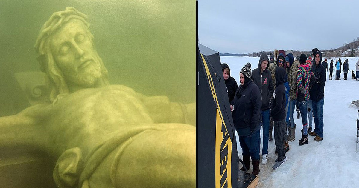 untitled 1 29.jpg?resize=1200,630 - Giant Underwater Crucifix Draws Hundreds To Frozen Lake Michigan