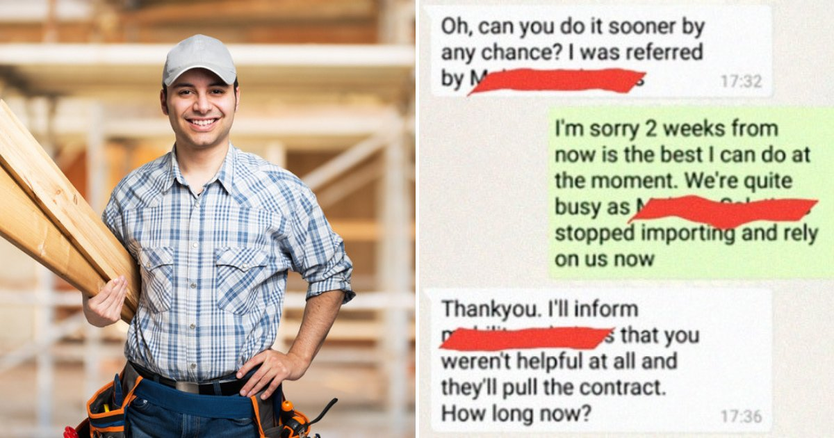 untitled design 20.png?resize=412,232 - Man Shared Texts After Entitled Customer Came Up With Unreasonable Demands