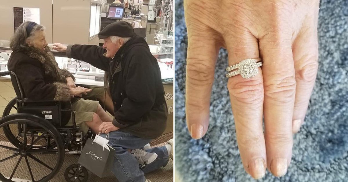 untitled design 29.png?resize=412,232 - Elderly Gentleman Proposes To His Wife All Over Again After 63 Years Of Marriage