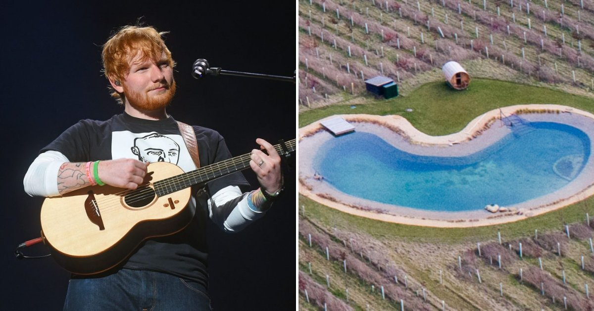untitled design 44.png?resize=412,232 - Ed Sheeran's Neighbors Angry At The Singer For Building Huge Pool Claiming It Was A Wildlife Pond