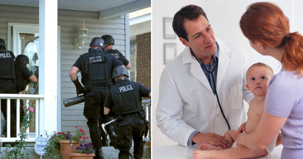 untitled design 48 1.png?resize=1200,630 - Officers Raid Family Home After Doctor Reports Parents With Unvaccinated Toddler To The Authorities