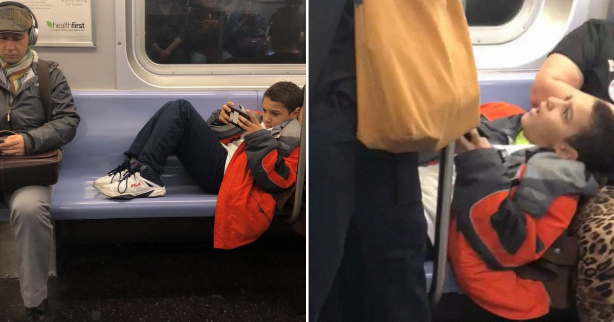 untitled design 62.png?resize=1200,630 - Passenger Sits On Rude Kid After He Refused To Move His Legs From Subway Seats