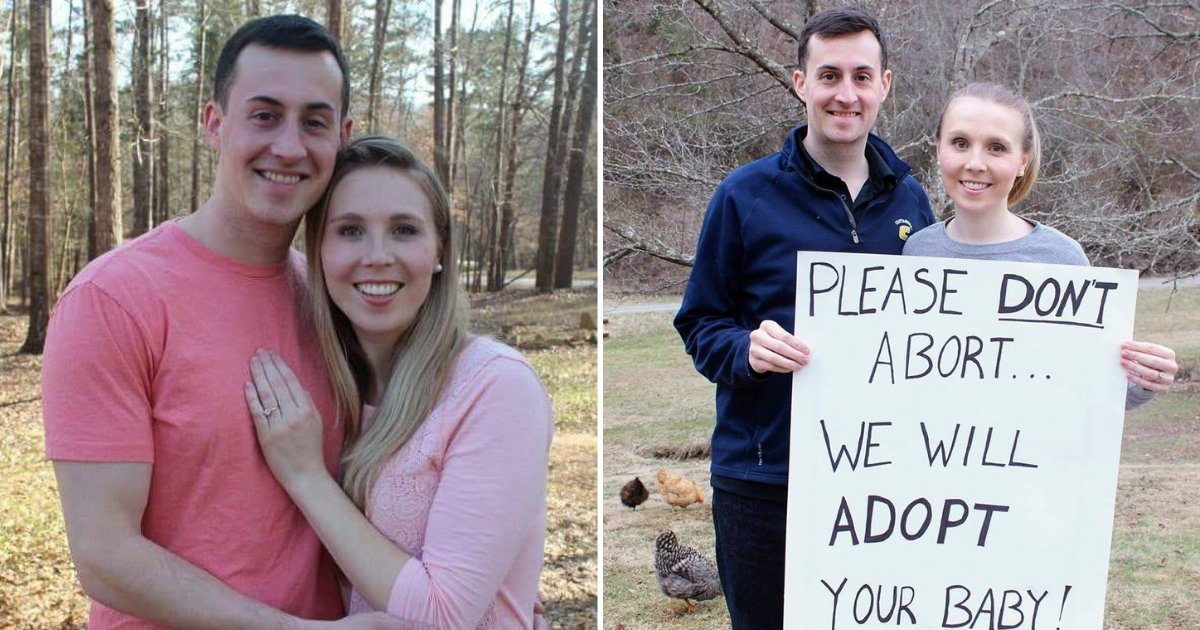 untitled design 9 1.png?resize=1200,630 - Women Canceled Their Abortion Plans After Seeing Couple Holding An Adoption Sign