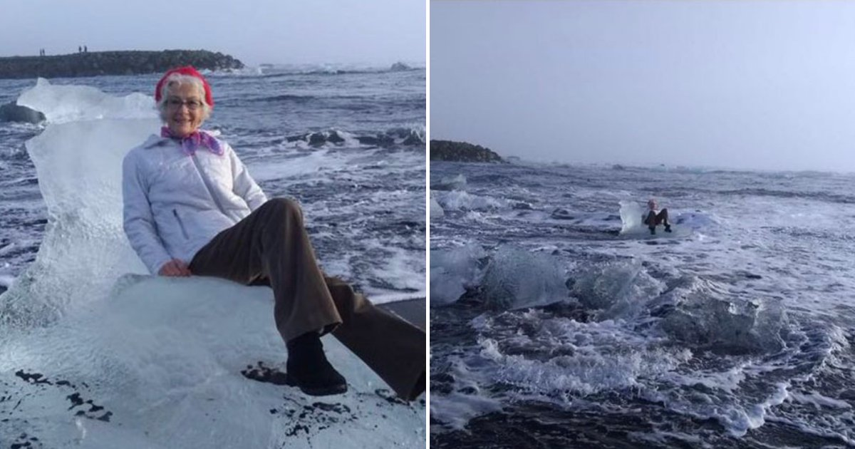untitled design 99.png?resize=1200,630 - Grandmother Drifts Off To Open Sea After Sitting On An Iceberg To Pose For A Picture