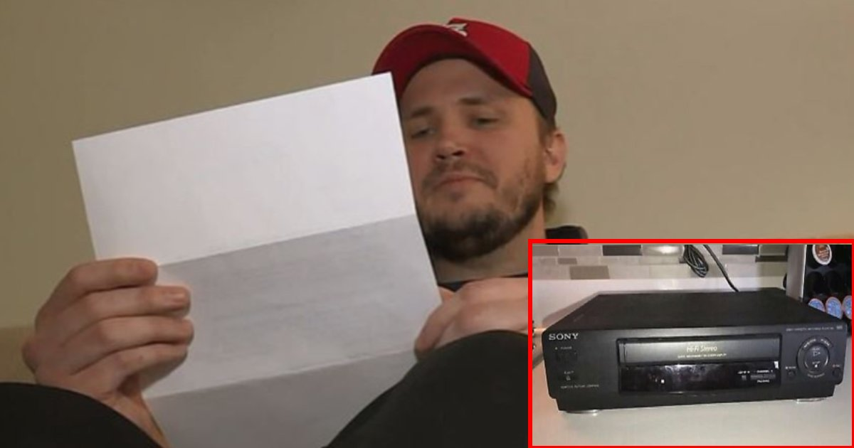 video player letter.png?resize=1200,630 - Man Sold VHS Player Online, Later Received A Touching Letter From The 86-Year-Old Buyer