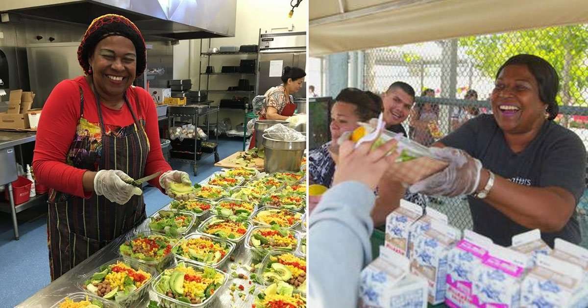 woman feeds homeless.jpg?resize=1200,630 - Woman - Who Feeds Homeless From Her Own Pocket - Received A Generous Gift From Steve Harvey