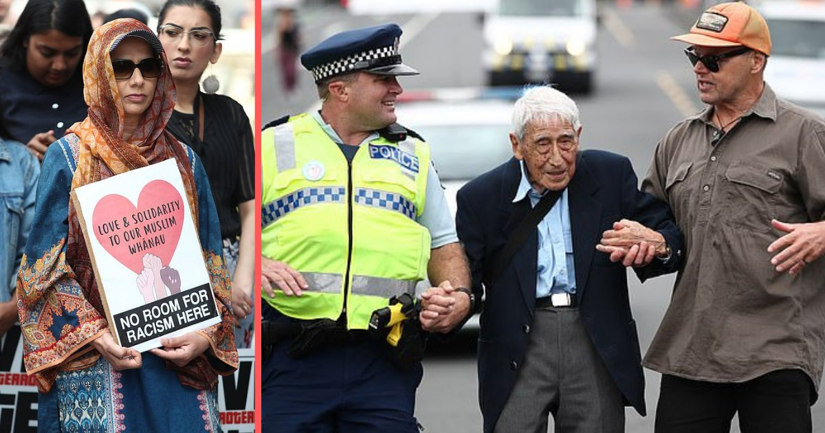 "y3 18.png?resize=1200,630 - ""We Are All Together"" 95 Year Old Veteran Travels Changing 4 Buses to Attend a Rally for Victims of Christchurch"