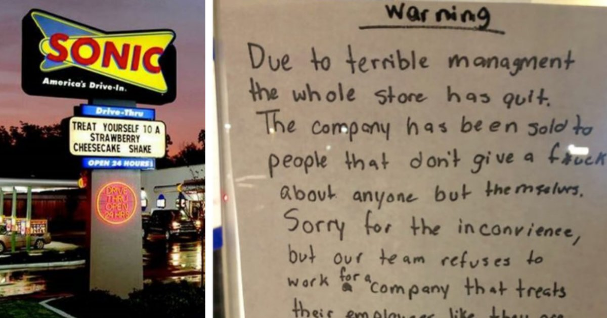 y4 1.png?resize=1200,630 - Entire Staff of Fast Food Restaurant Quit Together and Posted A Note on the Front Door for their Employer To See