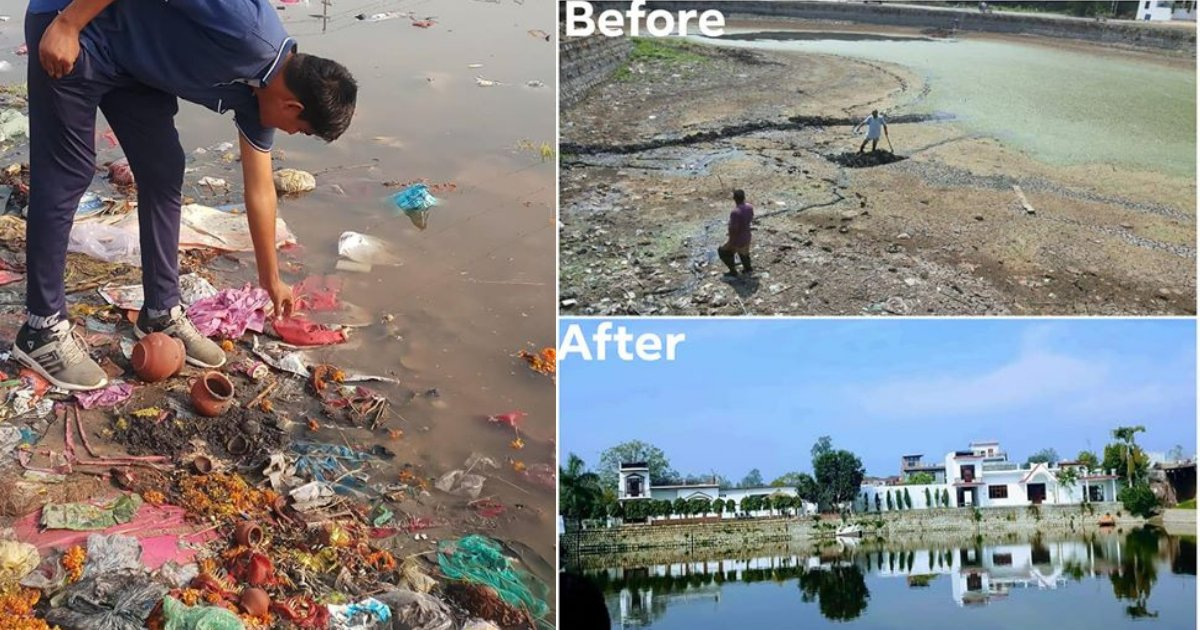 y4 18.png?resize=1200,630 - The World Needs More SUPER HEROES Like Him; Young Indian Taking Up the Action to Revive Dead Lakes in the Country
