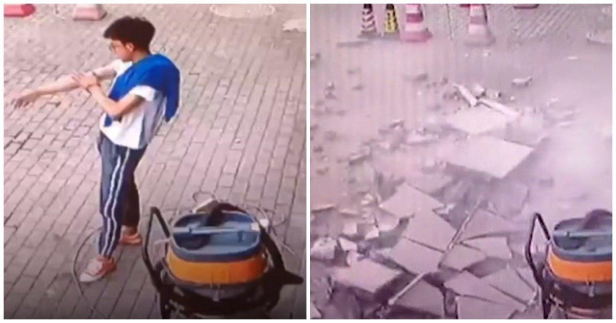 02 5.jpg?resize=412,232 - 옷깃을 스칠 정도의 간발의 차...자신의 목숨을 구한 남성(영상)