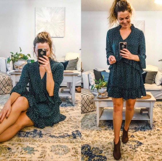 """Promising review: """"I was pleasantly surprised at not only the quality of this dress, but also how flattering it is. As an avid amazon shopper, I highly recommend! This dress will definitely look great on all body types."""" —KenGet it from Amazon for .99+ (available in sizes S-XL and in three colors)."""