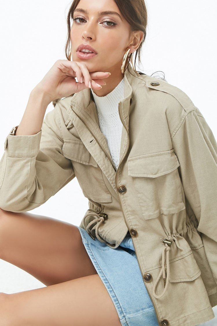 The drawstring waist allows you to get just the fit you want. Plus, this is the kind of jacket you could totally customize further with pins or patches!Get it from Forever 21 for .90 (available in sizes XS-L).