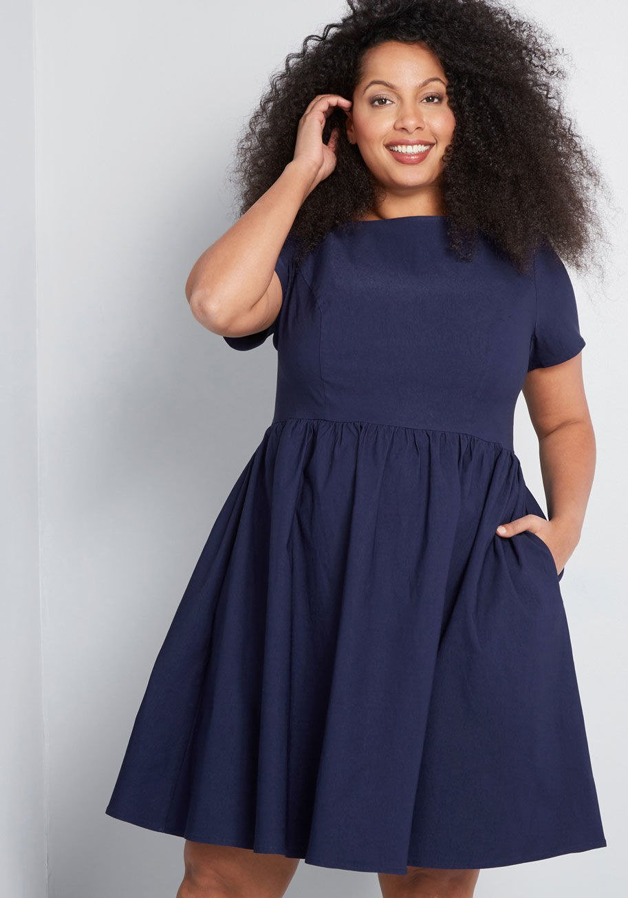 """Promising review: """"It's a very comfortable and stylish dress! The fit is slightly large but not enough to go down another size."""" —alexGet it from ModCloth for  (available in sizes XXS–4XL)."""