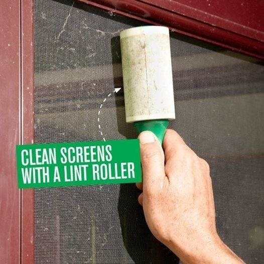From Handyman Magazine. Get a pack of five lint rollers on Amazon for .25.
