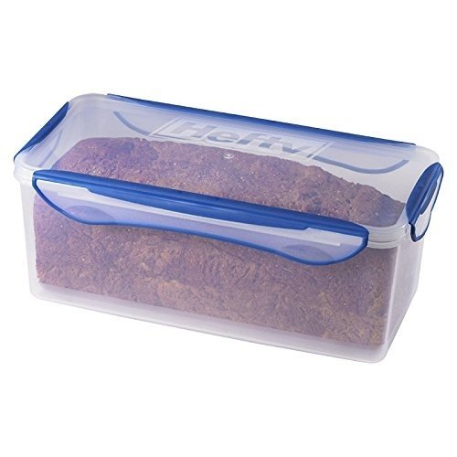 That way, it'll be too cold to mold! Protecting it with plastic prevents it from drying out. (If you do choose the plastic bag route, please reuse them over and over for multiple loaves!)Get this bread container on Amazon for .99.