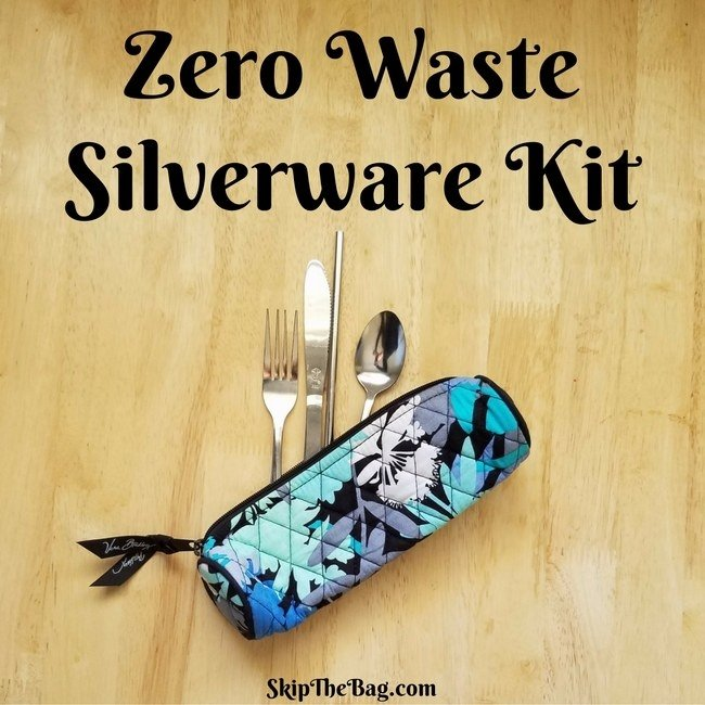 You can keep it in your desk, your purse, or wherever makes the most sense for your life. Then forever turn down any offers of plasticware! From Skip the Bag.