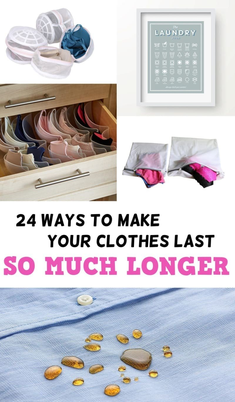 Here's a bunch of ways to make your clothes last longer.