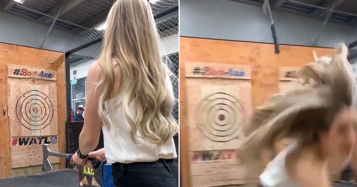 5 25.jpg?resize=412,275 - 인스타에서 핫한 '도끼 던지기' 체험하다 죽을 뻔한 여성 (영상)