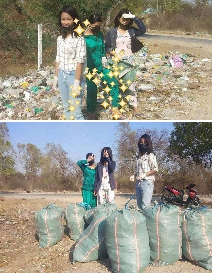 3 Women Cleaned Up This Area Together. #trashtag
