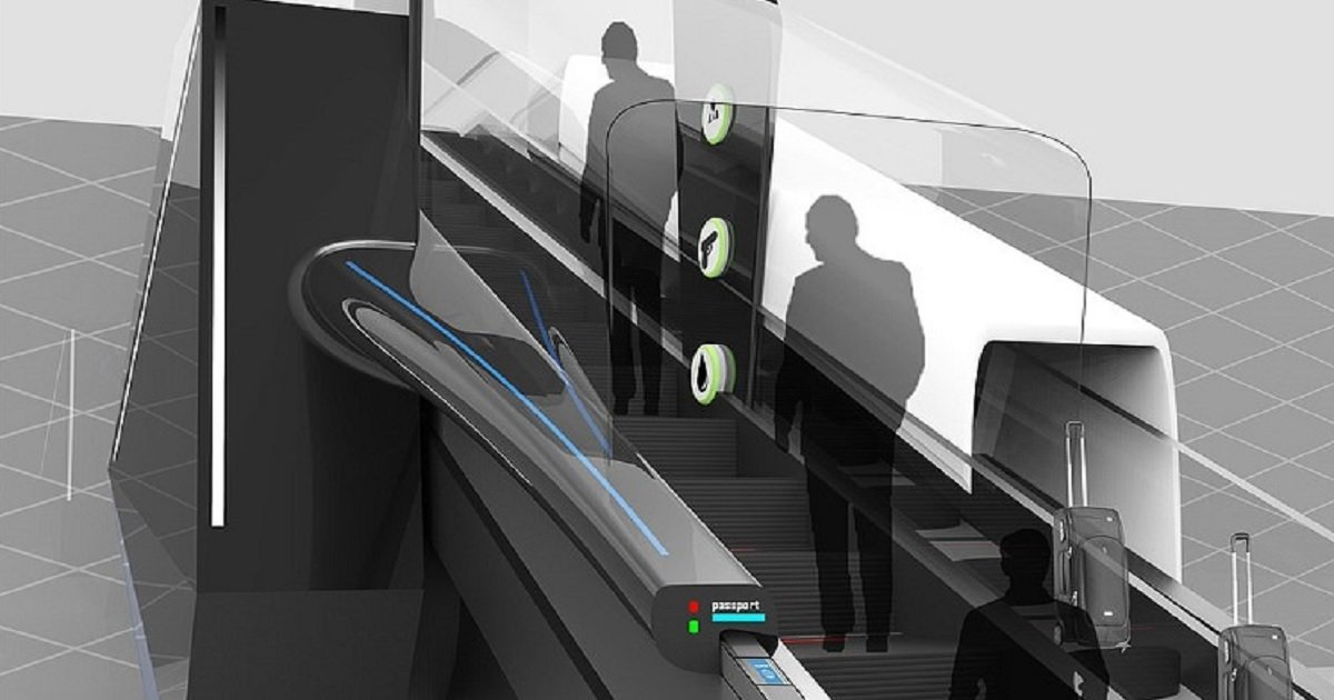 a3 16.jpg?resize=1200,630 - Futuristic Escalator Will Allow Passengers To Breeze Through All Airport Check-Ins