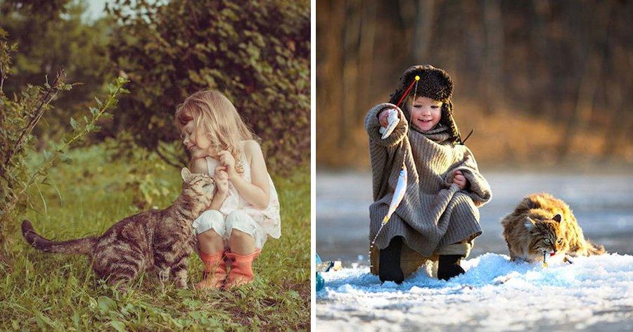 a6 7.jpg?resize=1200,630 - 18 Fotos fofas de crianças brincando com seus gatos