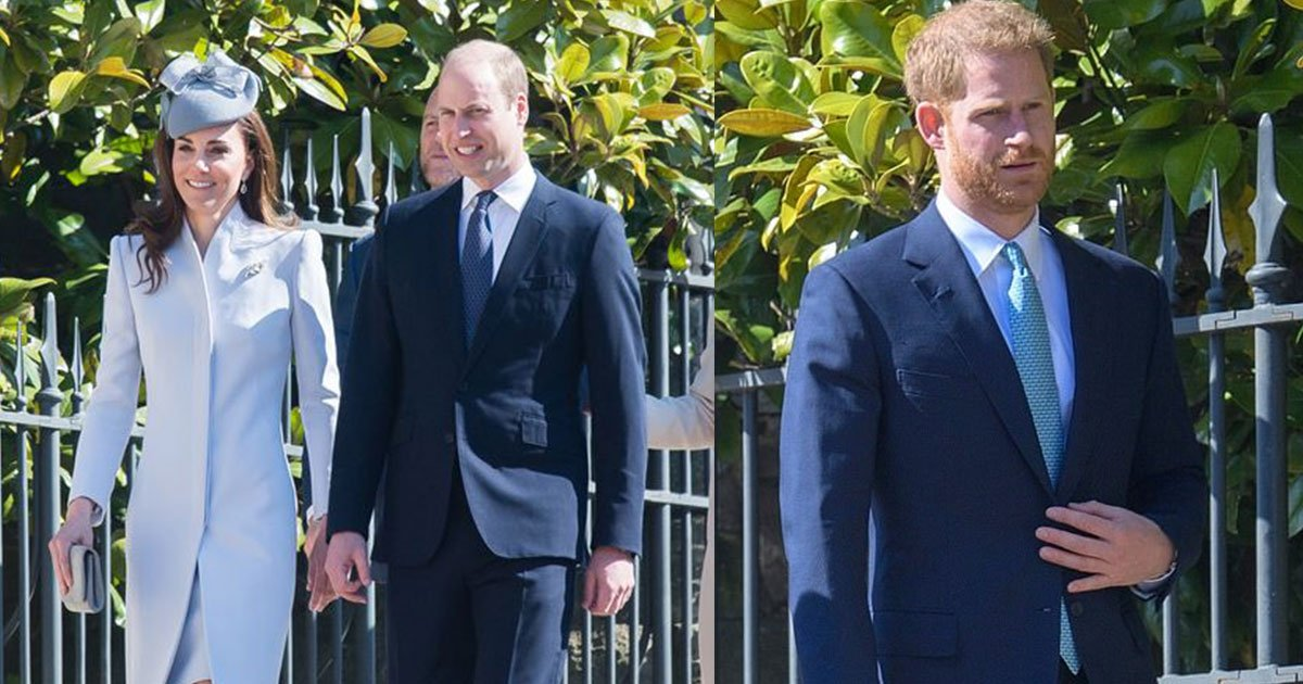 body language expert claimed prince harry was desperate to avoid william at easter church service.jpg?resize=412,232 - Body Language Expert Claimed Prince Harry Was 'Desperate To Avoid' William At Easter Church Service