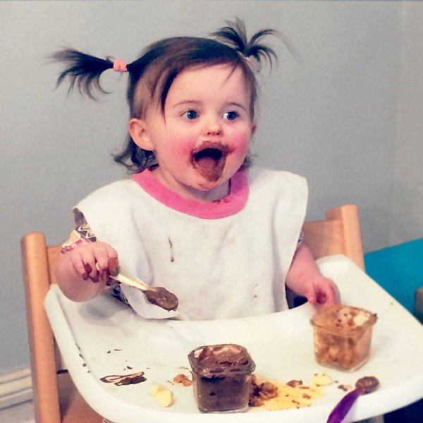 Image result for baby eating chocolate