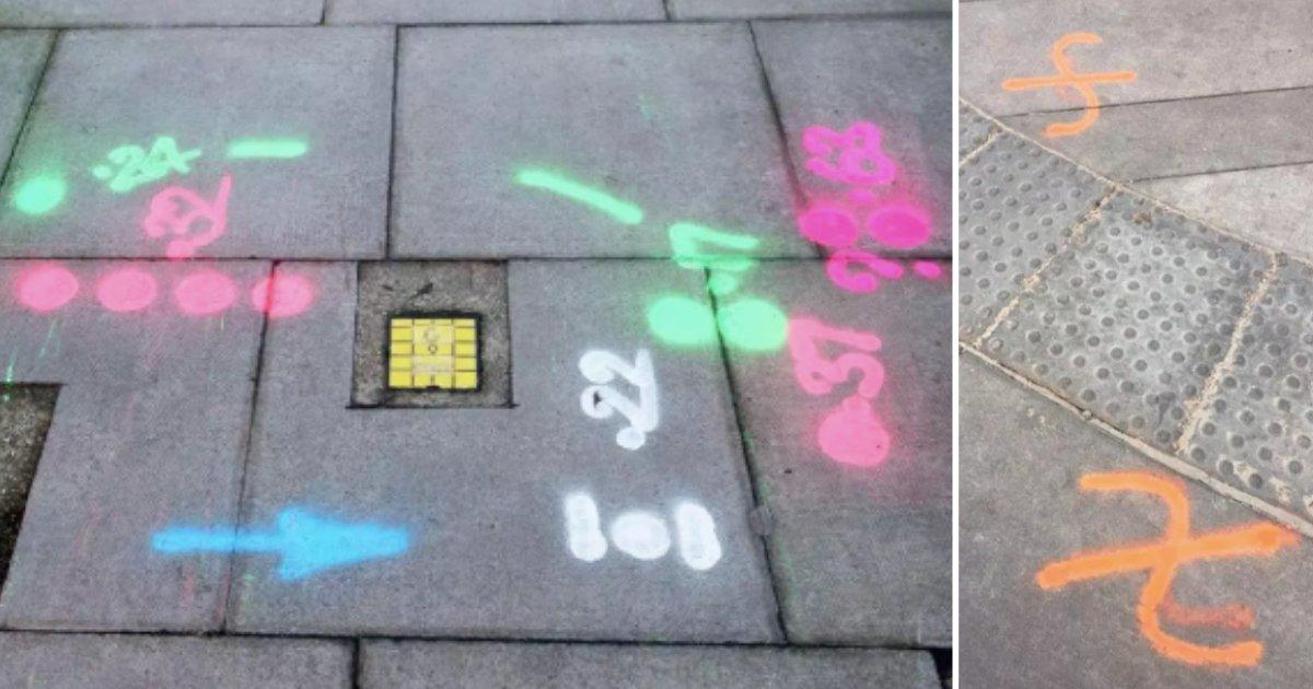d2 12.png?resize=412,232 - Les signes peints sur les trottoirs interrogent sur ce qu'ils pourraient représenter - beaucoup prétendent qu'ils sont des codes pour les cambrioleurs