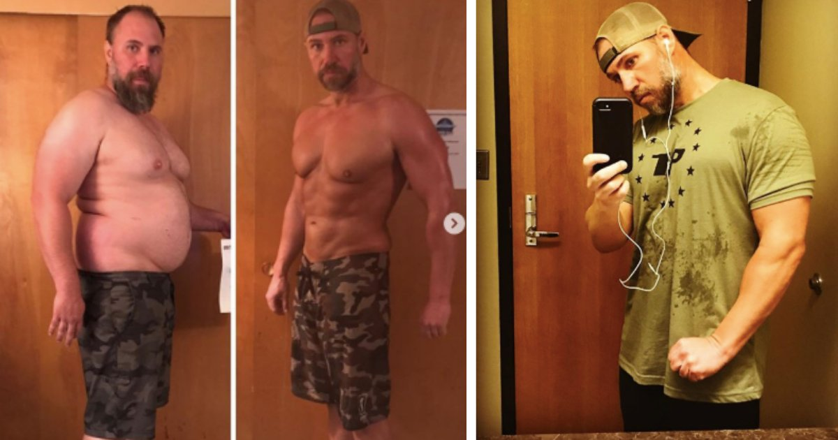 d3 10.png?resize=1200,630 - The 40-Year-Old Dad Lost 92 Pounds After He Struggled for Breaths While Trekking With His Kids