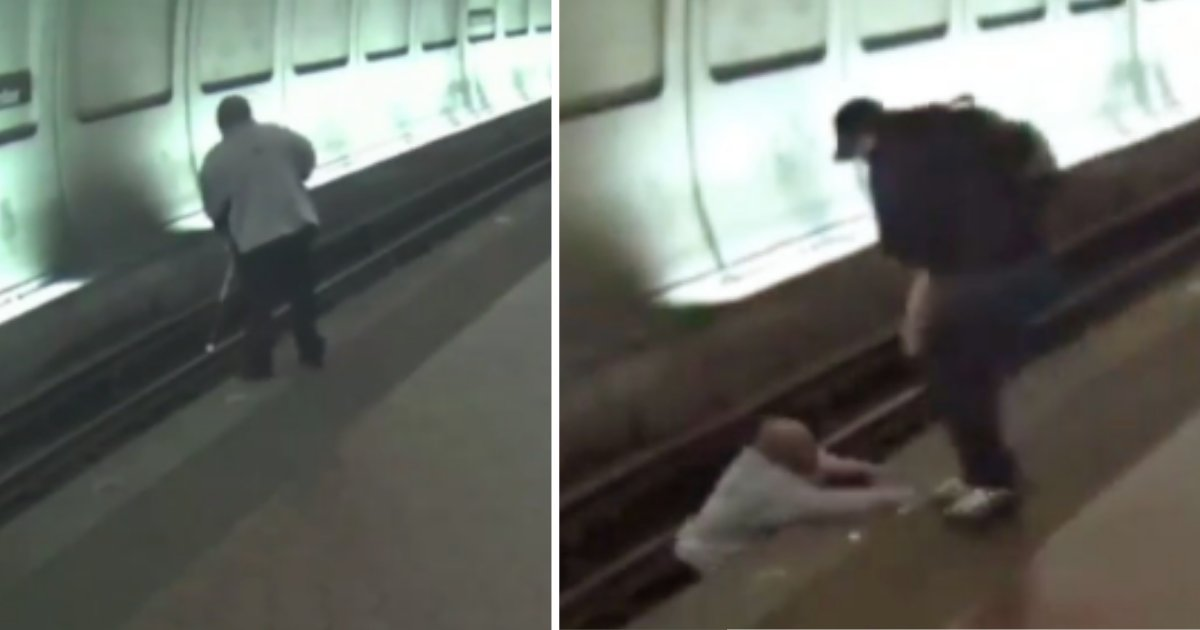d4 10.png?resize=412,232 - Stranger Saves Blind Man's Life Who Fell Down On The Train Tracks