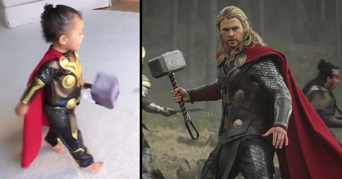 d5 15.png?resize=1200,630 - Kylie Jenner partage une adorable vidéo de Stormi déguisée en minuscule Thor après avoir organisé une soirée à thème Avengers pour son petit ami