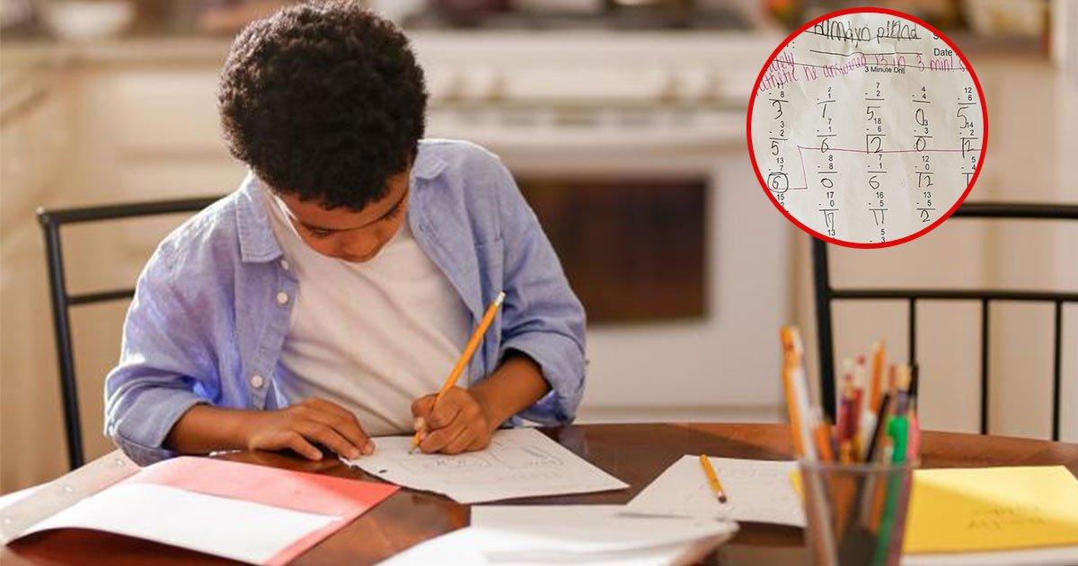 dad showed outrage on sons teacher after getting rude feedback on homework.jpg?resize=412,232 - Dad Showed Outrage At The Teacher's Rude Feedback On His Son's Homework