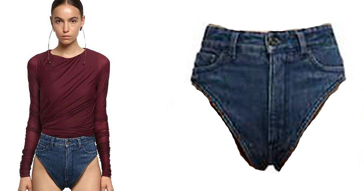 """designer clothing company released a pair of denim underwear and took the internet by storm.jpg?resize=412,232 - Vous pouvez désormais porter des """"sous-vêtements"""" en jean"""