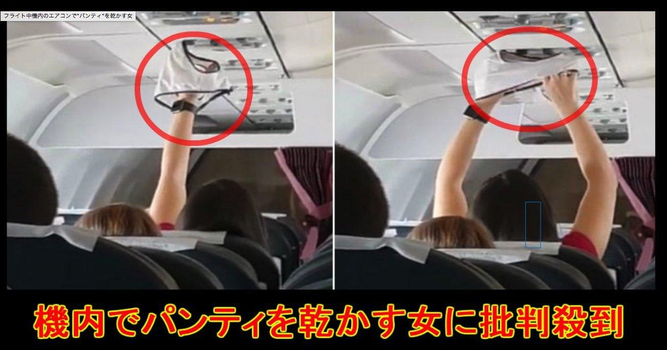 """e382b9e382afe383aae383bce383b3e382b7e383a7e38383e38388 2019 04 22 14 49 21.png?resize=300,169 - フライト中機内のエアコンで""""パンティ""""を乾かす女"""