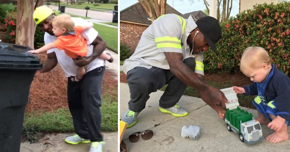 featured image 38.png?resize=412,232 - Mom Shared A Video Showing An Adorable Friendship Between 16-Month-Old And Local Garbageman