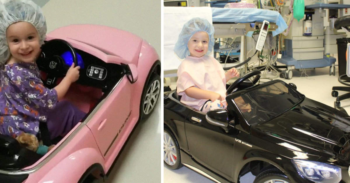Toy Cars That You Can Drive >> This Hospital Gives Kids Toy Cars So They Can Drive Into The