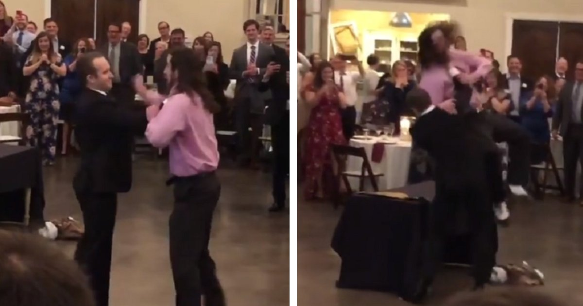 featured image 6.png?resize=1200,630 - WWE-Inspired Groom Choke Slammed His Best Man In A Hilarious Wedding Brawl